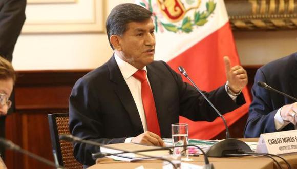 El ministro Carlos Morán se presentó la semana pasada en la Comisión de Defensa Nacional e Inteligencia. (Foto: Mininter)