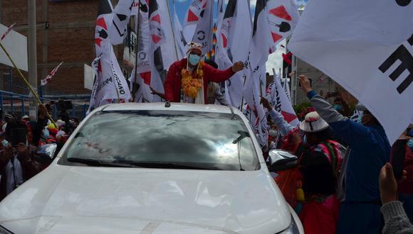 Yonhy Lescano cierra su campaña en el sur visitando Puno. (Foto: Carlos Fernández, colaborador de El Comercio)