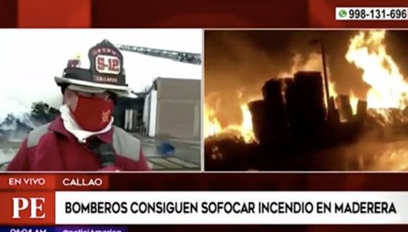 El portal del Cuerpo de los Bomberos Voluntarios del Perú (Cgbvp) indicó que el fuego se inició alrededor de las 3:08 a.m. Foto: captura de pantalla