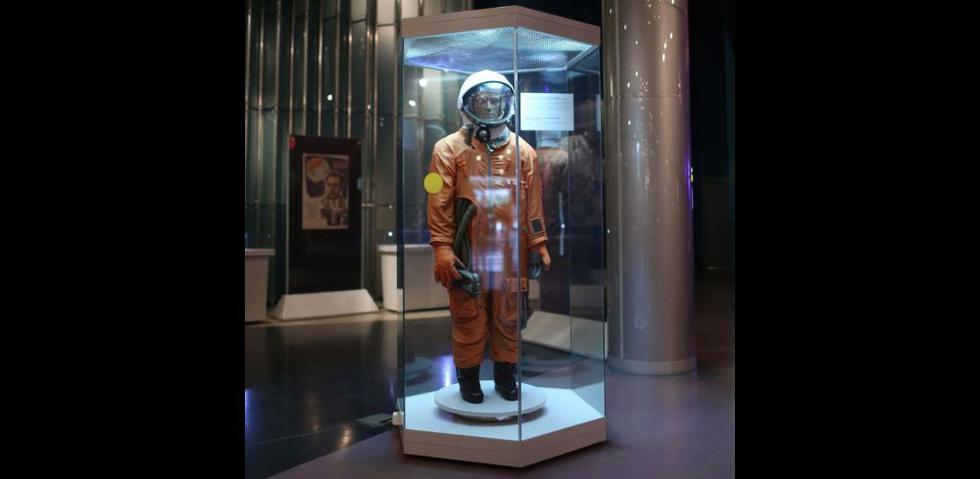 El 12 de abril de 1961 Yuri Gagarin fue lanzado hacia el espacio y se convirtió en el primer hombre en alcanzarlo. Su traje hoy se exhibe en el Museo de la Cosmonáutica de Moscú (Víctor Idrogo).