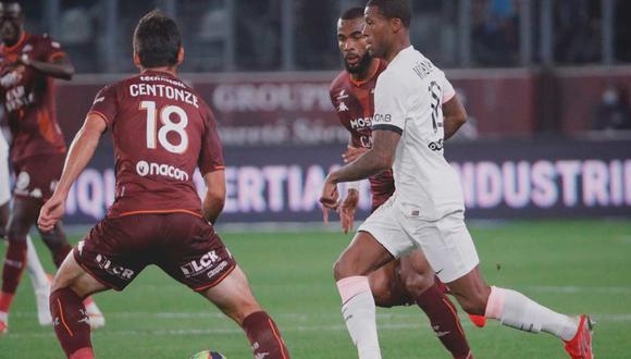 PSG chocó con Metz por la Ligue 1 de Francia   Foto: @PSG_inside