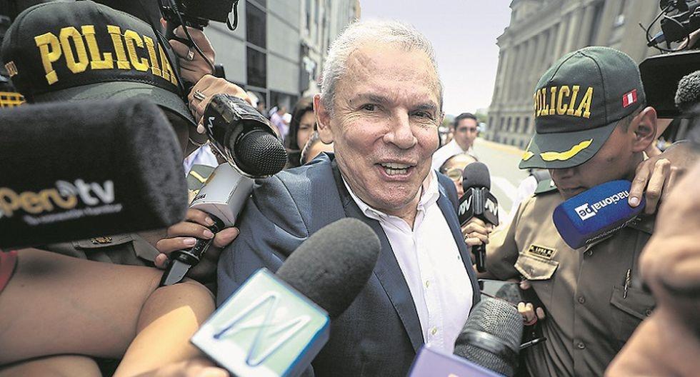 Castañeda evitó referirse a su excolaborador Martín Bustamante, aunque consideró que José Luna tiene razón en afirmar que el exfuncionario mintió para perjudicarlo. (Foto: GEC)