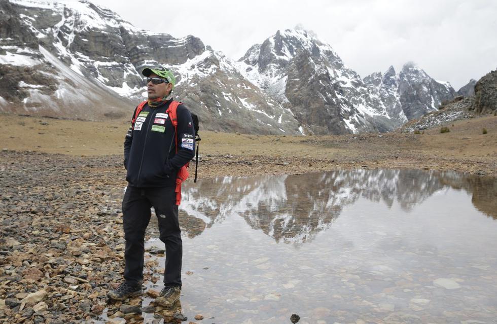 """""""Escalando me encuentro a mí mismo"""", dijo Richard Hidalgo en una entrevista. Murió intentando conquistar una de las más altas cumbres.  (Foto: Alonso Chero)"""