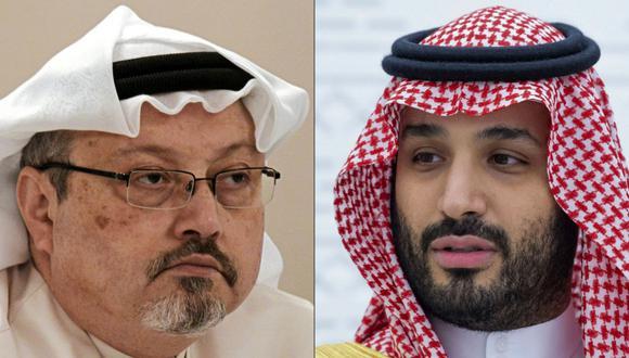 El periodista Jamal Khashoggi (izq.), quien era colaborador del diario The Washington Post, fue asesinado por  órdenes del príncipe heredero de Arabia Saudita, Mohammed bin Salman (der.), según un informe de la CIA. (Foto: AFP)