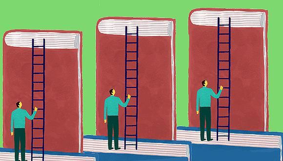 """""""El mundo de los libros puede ser, además de fantástico, también extraño y misterioso"""". (Ilustración: Víctor Aguilar)"""