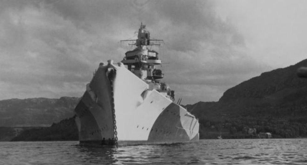 El Tirpitz fue el buque más grande y poderoso de la Kriegsmarine, la marina de guerra de Hitler. (BUNDESARCHIVE PHOTOS)