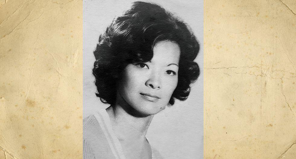 Elena Chui Noguchi en 1977. Trabajó en el colegio de la Inmaculada de Monterrico.  Tiene 3 hijos y 7 nietos que la quieren mucho.