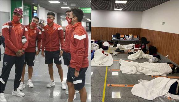 La travesía del 'Rojo' en Brasil: 11 jugadores durmieron en aeropuerto tras dar positivo por coronavirus | FOTO