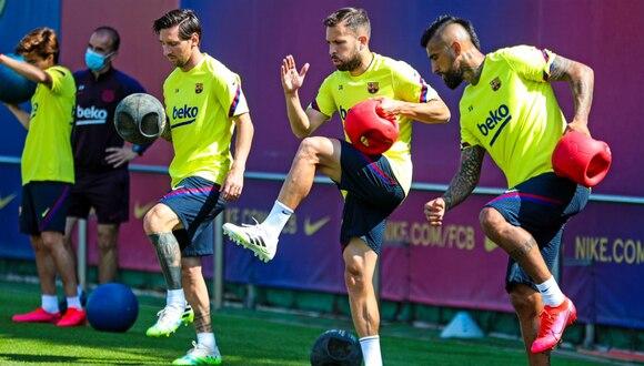 FC Barcelona: Lionel Messi no entrenó a la par de sus compañeros | Foto: Barcelona