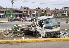 Callao: dos muertos y seis heridos tras despiste de camión en Mi Perú | VIDEO