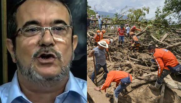 """""""Hablando con los guerrilleros, ellos quisieran ir hasta allá, para trabajar, para ayudar a la reconstrucción. Creo que es posible que el Bloque Sur y, si no, las FARC, haga esta propuesta. De verdad que están muy adoloridos con"""