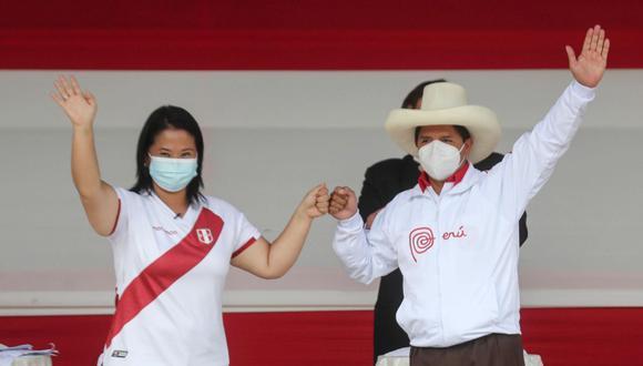 Keiko Fujimori y Pedro Castillo se enfrentaron en la segunda vuelta. (Foto: GEC)