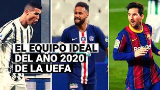 Cristiano Ronaldo y Lionel Messi encabezan el Equipo del Año 2020 de la UEFA