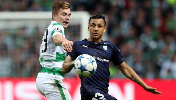 Celtic venció 3-2 al Malmö de Yotún por la Champions League