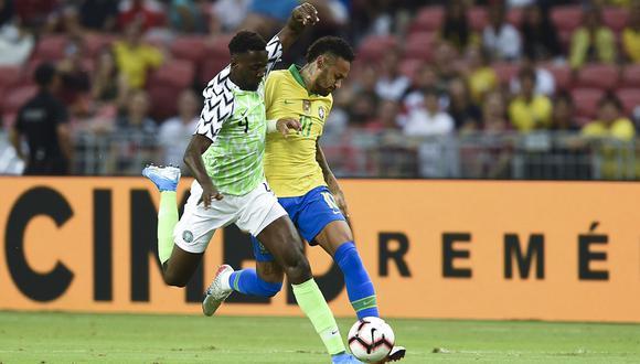 Sin Neymar desde el minuto 11, Brasil igualó 1-1 con Nigeria y atraviesa su peor racha desde que Tité llegó al comando técnico. | Foto: AFP