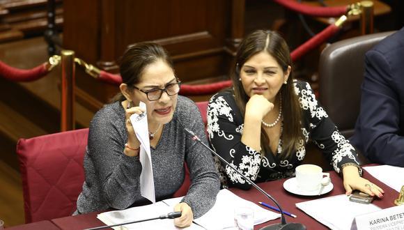 Las exparlamentarias fujimoristas Karina Beteta y Milagros Salazar ingresaron como asesoras de comisiones presididas por miembros de Fuerza Popular, según consta en las planillas legislativas. (Foto: GEC)