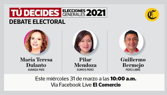 Candidatos debaten este miércoles a las 10 a.m.