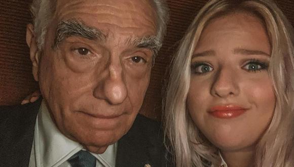 Martin Scorsese y su hija Francesca, semanas antes de Navidad. Foto: Instagram.