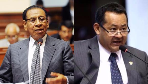 Los legisladores Justiniano Apaza (Frente Amplio) y Bienvenido Ramírez (Fuerza Popular) emitieron recientemente declaraciones discriminatorias que pasaron desapercibidas por sus colegas. (Foto: Archivo El Comercio)