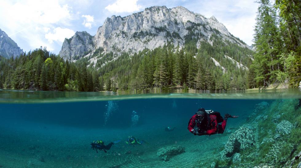 Descubre la extraña belleza de este parque sumergido en Austria - 1