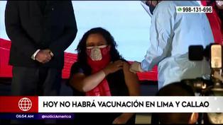 Coronavirus: hoy no habrá vacunación en Lima y Callao