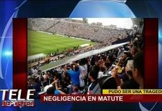 Panel publicitario se desprendió del estadio de Alianza Lima y cayó sobre tribuna occidente