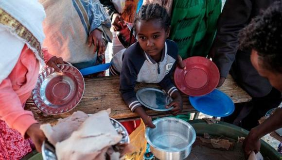 La devastadora hambruna creada por el hombre en Tigray. (AFP).