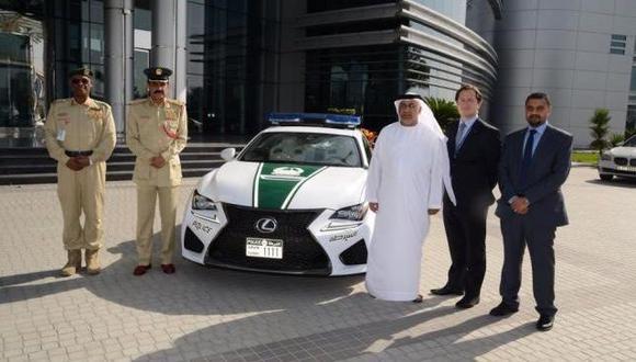Lexus RC F: La nueva joya de la policía de Dubai