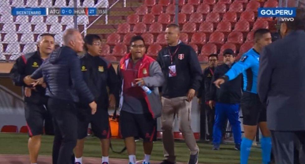 Sport Huancayo vs. Atlético Grau: Wilmar Valencia y Marco Ramacciotti tuvieron altercado en la final de Copa Bicentenario [VIDEO] - El Comercio - Perú