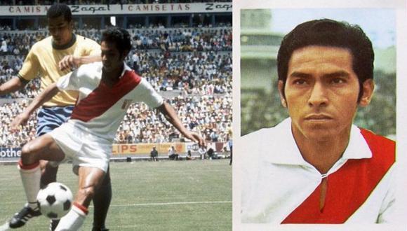 Nicolás Fuentes y Jairzinho. FOTO: GEC y Editorial Fher, Mundial México 1970.