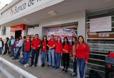Apurímac: trabajadores del Banco de la Nación acatan paro de 24 horas en Abancay