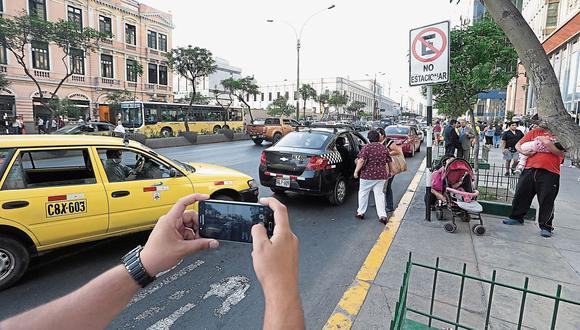 El Comercio registró ayer en la avenida Abancay esta clara infracción.