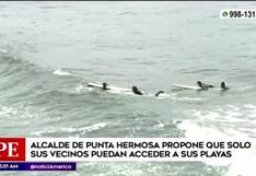 Alcalde de Punta Hermosa propone que solo sus vecinos puedan acceder a sus playas