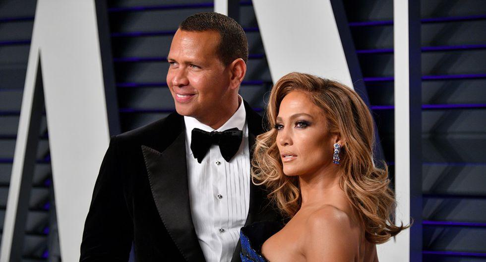 Jennifer López y Álex Rodríguez en el after party del Oscar 2019. (Foto: AFP)