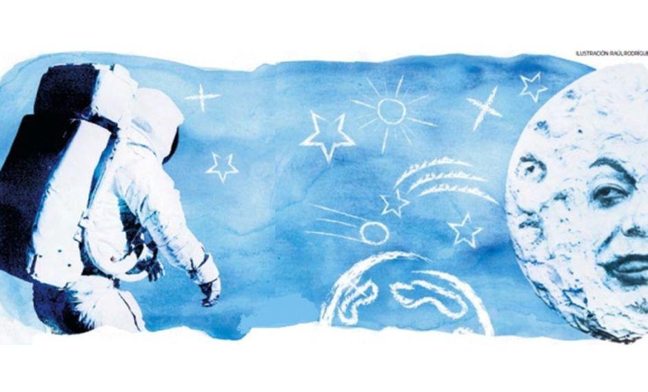El hombre tuvo que pasar muchos obstáculos para poder poner un pie en la Luna. (Ilustración: Raúl Rodríguez / El Comercio)