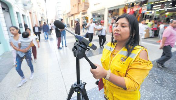 Las mediciones de ruido se realizaron en lugares comerciales como el Jirón de la Unión, pero las avenidas Abancay, Grau o 28 de Julio resultaron ser las zonas más críticas. (Municipalidad de Lima)