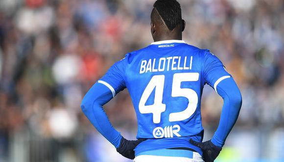 Mario Balotelli en el encuentro entre Brescia contra Lazio en el Estadio Mario Rigamonti por el primer partido del 2020 de la Serie A. REUTERS/Daniele Mascolo