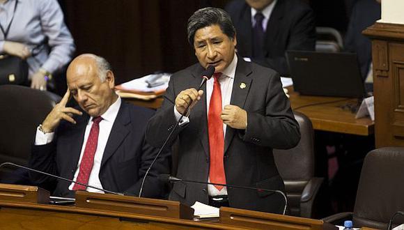 El primer vicepresidente del Congreso, Modesto Julca, propuso un plan para reactivar Áncash, región por la que fue elegido. (Foto: Víctor Idrogo / Archivo El Comercio)
