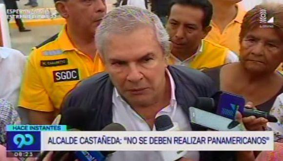 Castañeda apoya que Lima renuncie a ser sede de Panamericanos