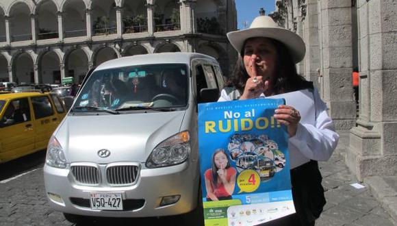 Campaña contra ruidos de vehículos se realizará en dos avenidas