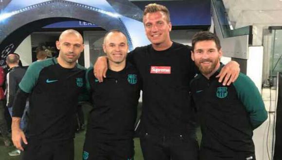 Maxi López habló de la foto junto a Messi y Mascherano