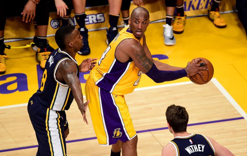 Kobe Bryant convirtió 60 puntos en su último partido con Los Ángeles Lakers
