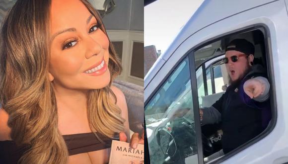 Un video viral de un repartidor que baila al ritmo de Mariah Carey se volvió tendencia después que la cantante lo replicara. | Crédito: @mariahcarey / Instagram / @kaylaprosser2 / TikTok.