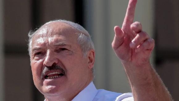 El presidente de Bielorrusia, Alexander Lukashenko, pronunció u discurso ante unos 1.000 seguidores en Minsk. (Foto: Siarhei LESKIEC / AFP).