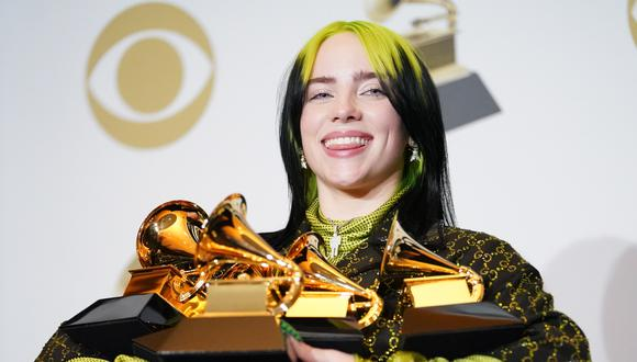 "Billie Eilish fue la gran ganadora de la noche gracias a su hit, Bad Guy y a su disco ""When we all fall asleep, where do we go?"". (Photo by Rachel Luna/FilmMagic)"