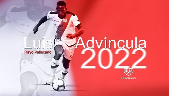 Advíncula tiene contrato con Rayo hasta el 2022. (Foto: Club Rayo Vallecano)