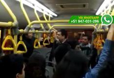 Metropolitano: mujer denunció acoso sexual al interior de bus