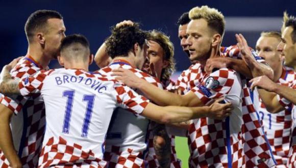 La selección croata que se medirá contra Perú. (Foto: AFP)