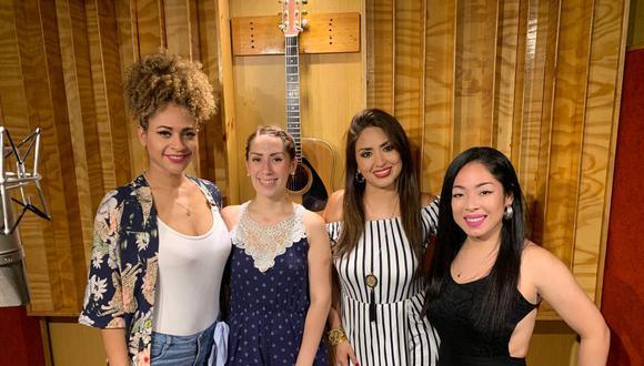 """El grupo de salsa y la cantante grabaron el tema oficial de """"No me digas solterona 2"""", cinta que llega a la cartelera  el próximo 2 de abril. (Foto: Difusión)"""
