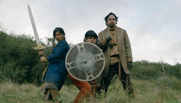 Antonella Valeriano, Diego Ulloa y Orlando Herrera, protagonistas de la serie Mortal Glitch. Se estrena hoy a las 4 p. m. en la cuenta de YouTube de Enchufe.Tv  (Foto: Touché Filmes)